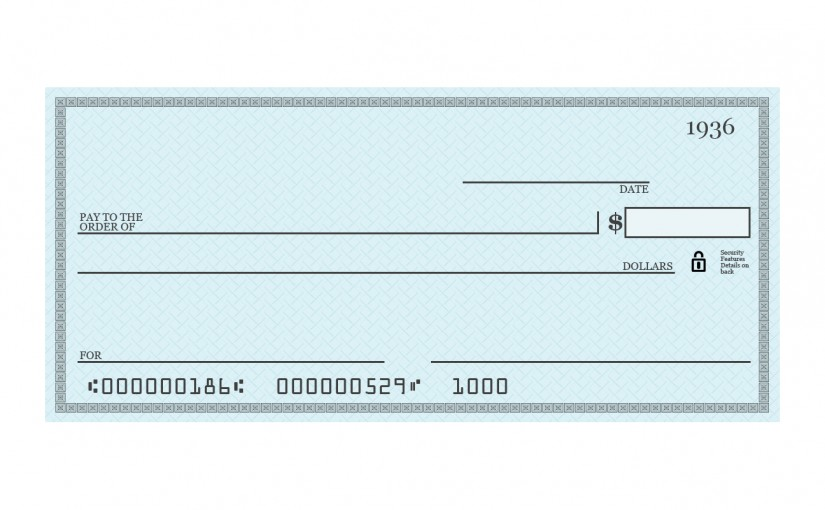 Напишете чек! И получете пари!