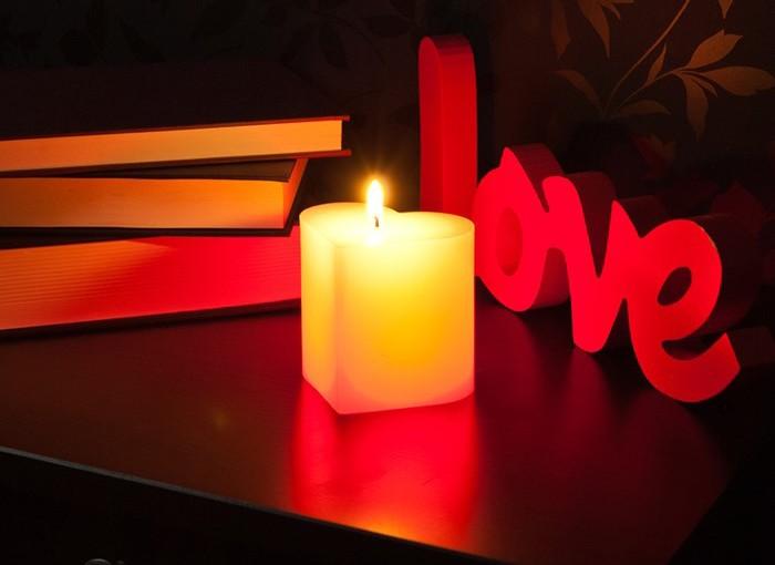 Любовь и свечи. открытка, дедом